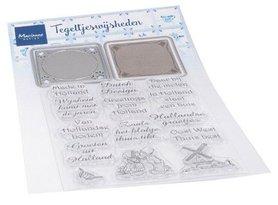 Marianne Design Clear Stamps & Dies Tegeltjes met wijsheden (NL) CS1053