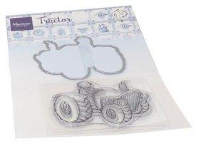 Marianne Design Clear Stamp & Die Hetty's Tractor HT1654