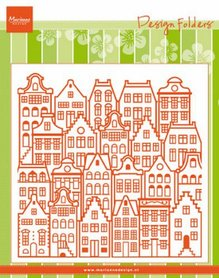 Marianne Design Embossing folder Extra Grachtenpanden DF3458