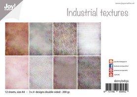 Joy! Crafts Papierset - Design - Industrieel texturen 12vl 6011/0652 A4