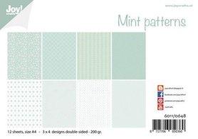 Joy! Crafts Papierset - Design - Mint patronen 12vl 6011/0648 A4