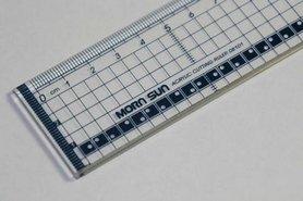 Snijliniaal transparant 30 cm met metalen rand