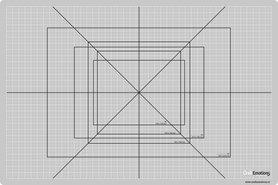 CraftEmotions snijmat dun 30x45 cm