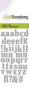 CraftEmotions Die - kleine letters