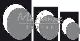 Marianne Design craftable Basic passe-partouts ovalen CR1467