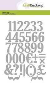 CraftEmotions Die - cijfers