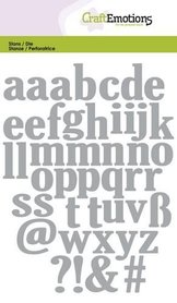 CraftEmotions Die - alfabet kleine letters
