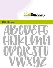 CraftEmotions Die - alfabet handlettering hoofdletters