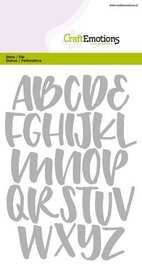 CraftEmotions Die - alfabet handlettering  kleine letters