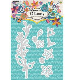 Studio Light embossing die cut 3D flower dies nr. 181