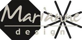 Marianne Desgin Craftable open ster vouwbaar CR1423