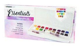 Studio Light Aquarelset 18 Colors + 2 Brushes Essentials nr.01
