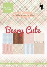 Marianne Design Paper pad Beary cute PK9145 15x21 cm