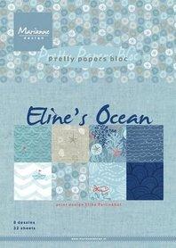 Marianne Design Paper pad Eline's Ocean PB7052 15x21 cm