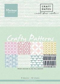 Marianne Design Paper pad Crafty Patterns A5 PB7054