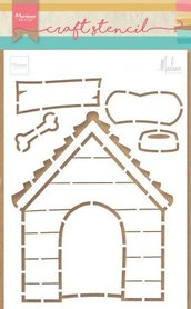 Marianne Design stencil doghouse by marleen PS8030