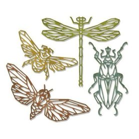 Sizzix Thinlits Die Set - 4PK Geo Insects