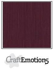 CraftEmotions linnenkarton burgundy 30,0 x 30,0cm