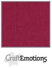 CraftEmotions linnenkarton bordeaux 30,30,cm