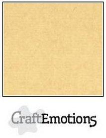 CraftEmotions karton gladkarton 10 vel honing (kraft) 30,0 x 30,0 cm