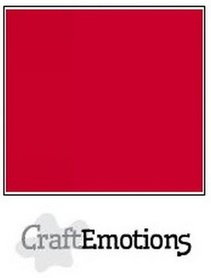 CraftEmotions karton gladkarton 10 vel vuurrood 30,0 x 30,0 cm