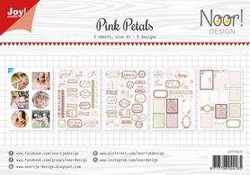 Joy! labelsheets cuttingsheet Noor Pink petals 6011/0412
