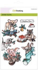 CraftEmotions clearstamps A5 - Christmas pets 1