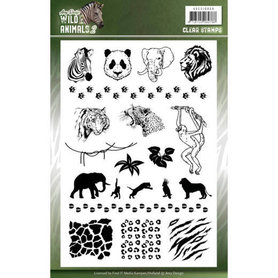 Amy Design clearstempel Wild animals 2