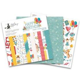 Piatek13 - Paper pad Happy Birthday 30.5 x 30.5 cm