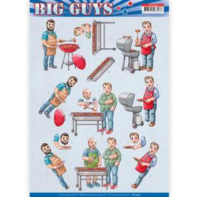 3D Knipvel - Yvonne Creations- Big Guys - Backyard BBQ