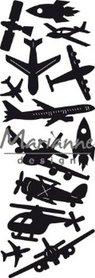 Marianne D Craftable Punch die - Aviation - luchtvaart CR1471