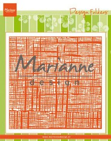Marianne D Embossing folder Linnen DF3453