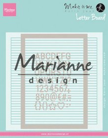 Marianne Design Embossing folder Extra Karin Joan's Letter Board DF3454
