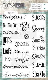 COOSA Crafts clearstamps A6 - Voor jou