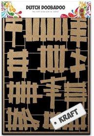 Dutch Doobadoo Dutch Paper Art Kraft - houten hekjes A5