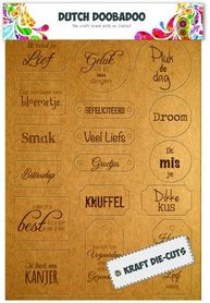 Dutch Doobadoo Dutch Label Art Every day tekst labels (NL) A4