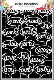 Dutch Doobadoo Dutch Paper Art tekst ballonnen - A5