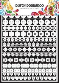 Dutch Doobadoo Dutch Paper Art buttons - A5