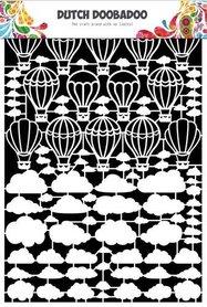 Dutch Doobadoo Dutch Paper Art Luchtballon-wolken A5
