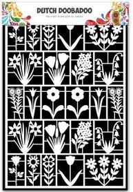 Dutch Doobadoo Dutch Paper Art bloemen A5