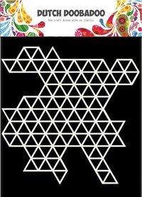 Dutch Doobadoo Dutch Mask Art 15x15cm driehoek patroon