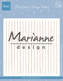 Marianne Design Embossing folder Marjoleine's stripes DF3456