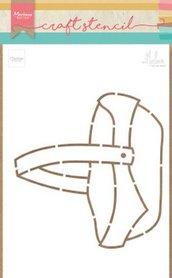 Marianne Design Stencil Fruitmand by Marleen PS8038