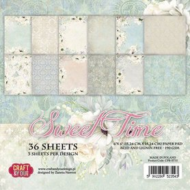 Craft&You Sweet Time Small Paper Pad 6x6