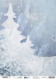 Studio Light Achtergrondpapier A4 Snowy Afternoon nr.300