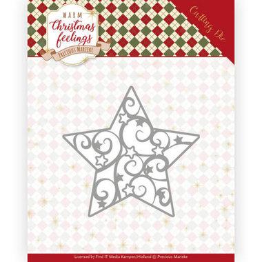 Dies - Precious Marieke - Warm Christmas Feelings - Swirl Star