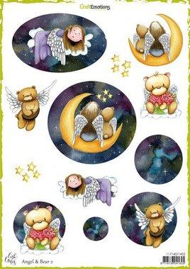 CraftEmotions Decoupage vellen Angel & Bear 2 A4 Carla Creaties