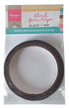 Marianne Design zwart foam tape - 1 mm zelfklevend dz LR0026