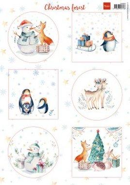 Marianne Design Decoupage vellen Christmas Forest VK9580