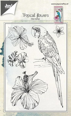 Clearstempel Joy! Crafts Tropical flowers 6410/0459
